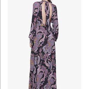 EXPRESS PAISLEY PRINT POET SLEEVE MAXI DRESS